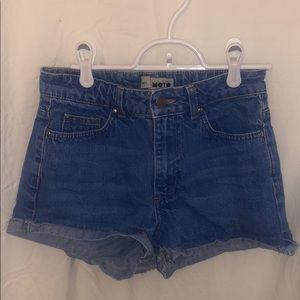 Size 25 Topshop Moto Denim Shorts